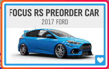 FOCUS RS PREORDER